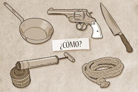 armas del juego incómodos invitados
