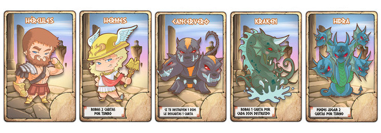 olimpians war cartas