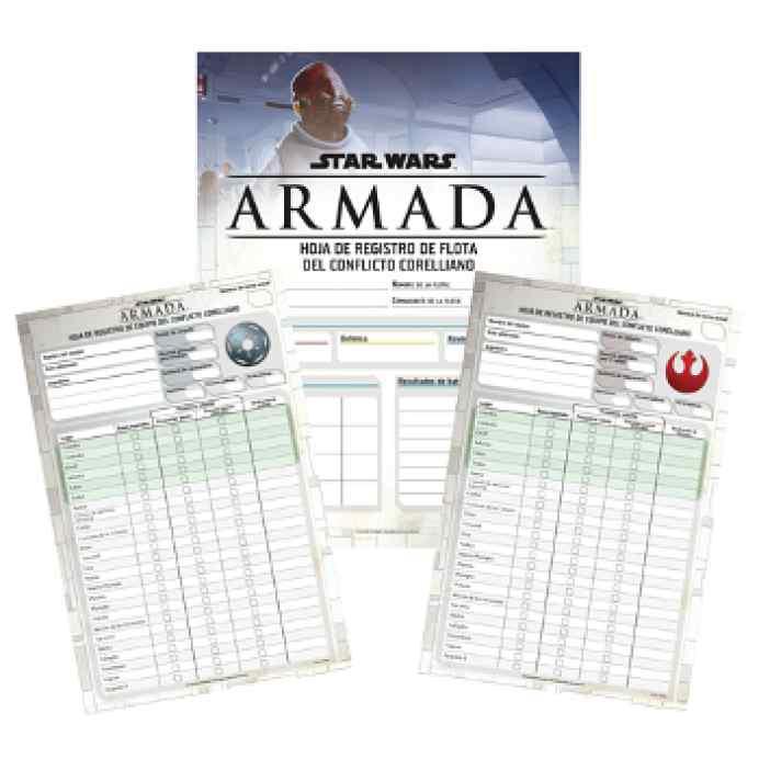 Star Wars Armada: El Conflicto Corelliano Hojas