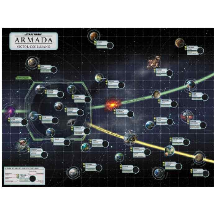 Star Wars Armada: El Conflicto Corelliano Tablero