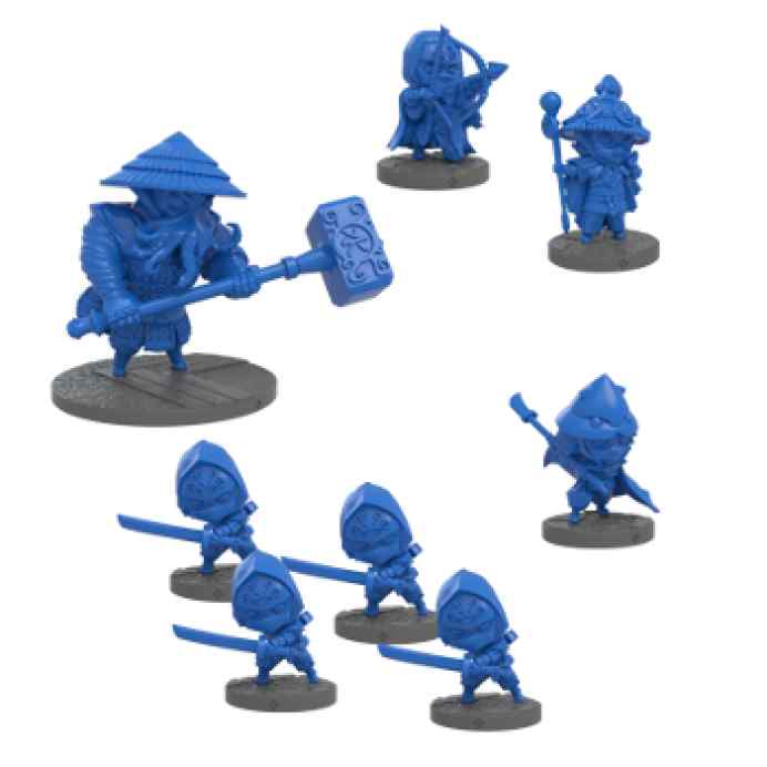 Ninja All Stars: Clan Ika miniaturas