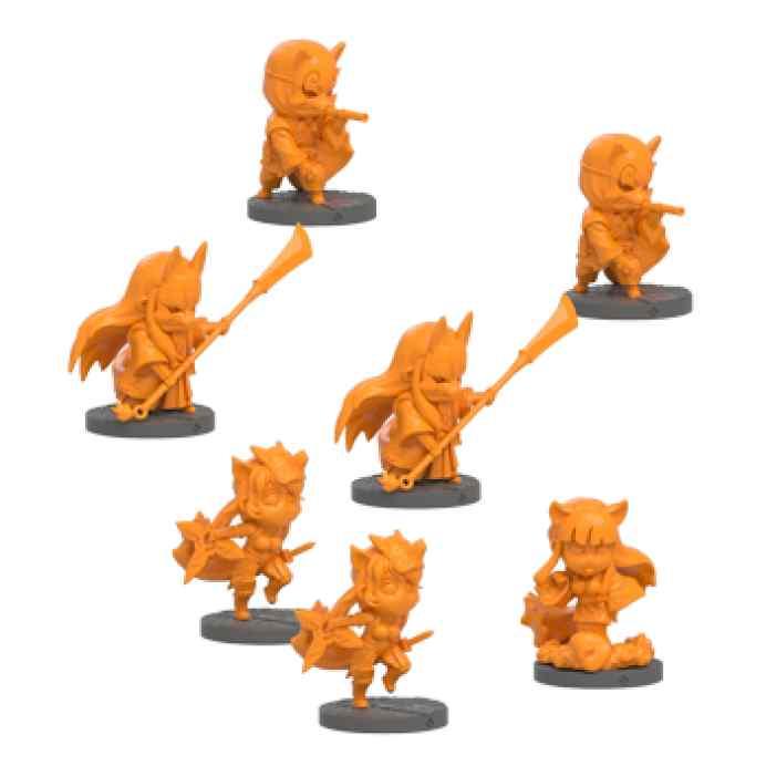 miniaturas Ninja All Stars: Clan Kitsune