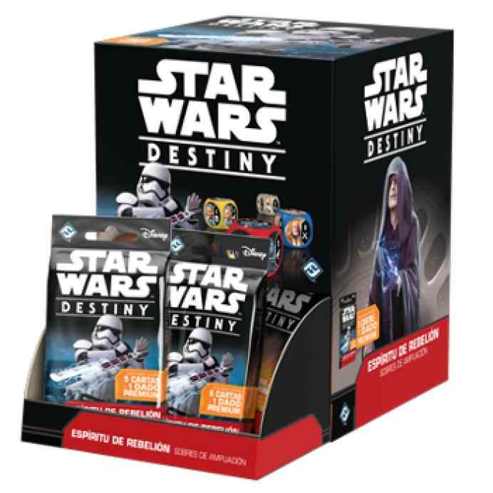 Star Wars: Destiny: Espíritu de Rebelión Expositor 36 Sobres de Ampliación