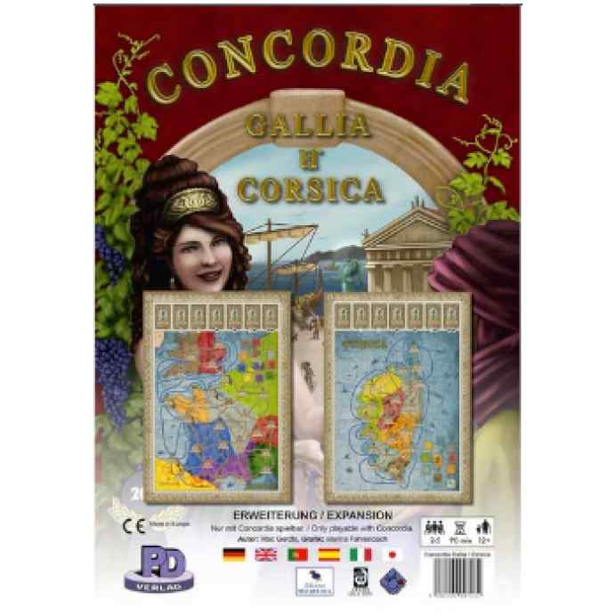 Concordia Español Expansion Gallia y Corsica TABLERUM