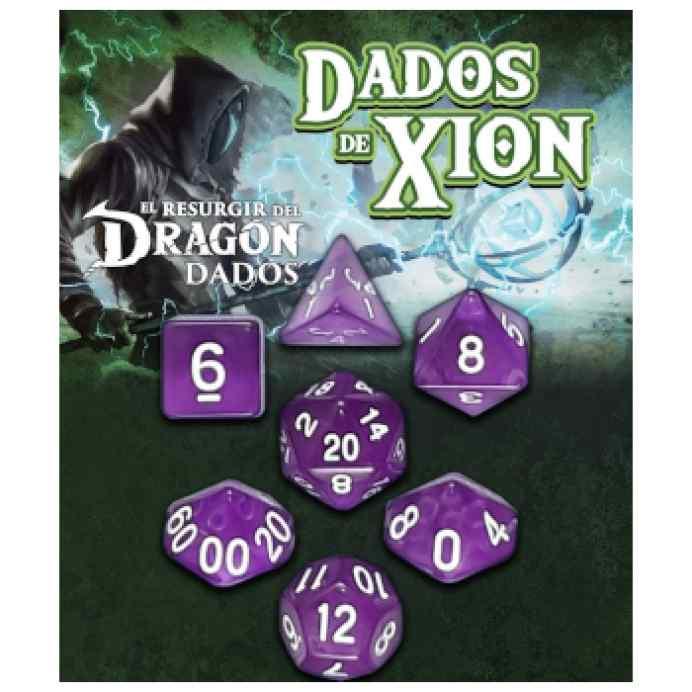 Dados de Xion: Púrpura Extraña Oscuridad TABLERUM
