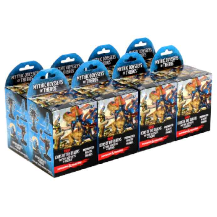 Dungeons & Dragons: Icons of the Realms Miniatures Mythic Odysseys of Theros 8ct Brick (Set 16) TABLERUM