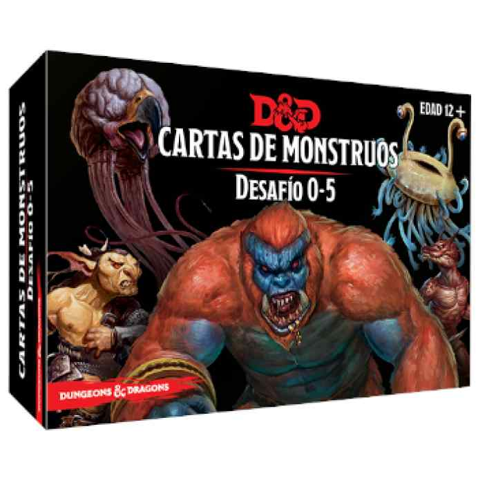 Dungeons & Dragons: Accesorios: Cartas de monstruos. Desafío 0-5 TABLERUM
