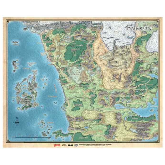 Dungeons & Dragons: Mapa de Faerun TABLERUM