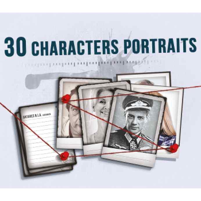 Detective: 30 Character Portraits - Mini Expansión TABLERUM