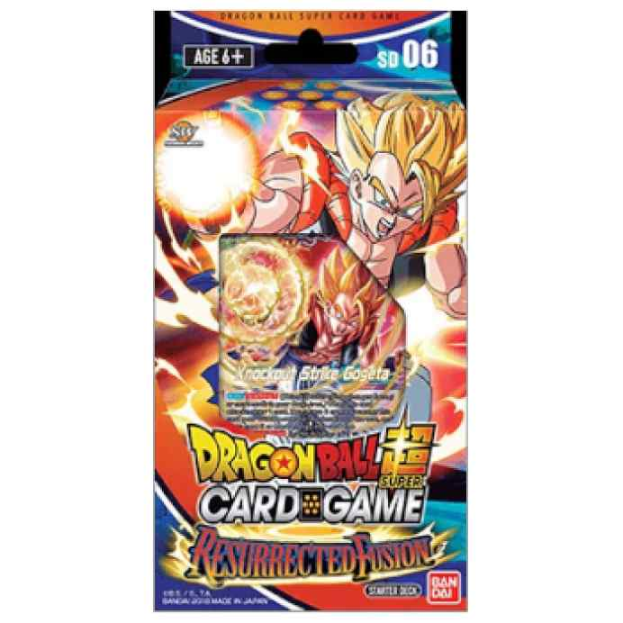 Dragon Ball Super Card Game: Starter Deck Display RESURRECTED FUSION SERIE 5 DBS - 6 INGLÉS TABLERUM