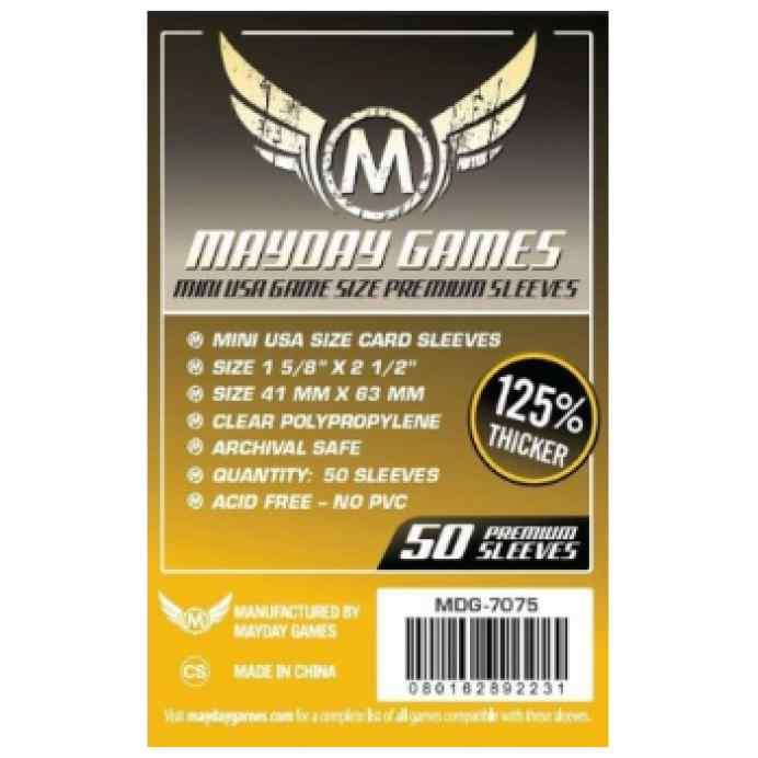 Fundas Mayday Mini USA PREMIUM 41x63 (50 unidades) TABLERUM