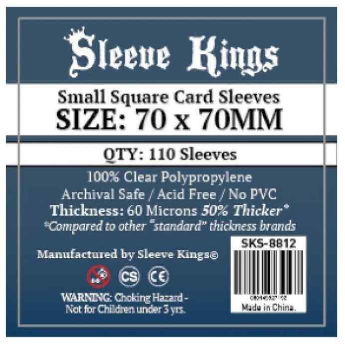 Fundas Sleeve Kings Small Square Card 70x70 TABLERUM