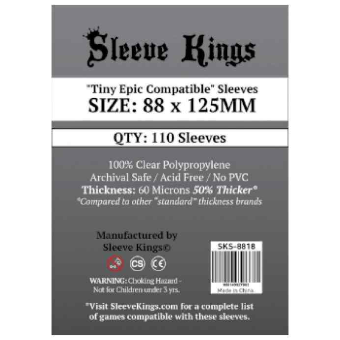Fundas Sleeve Kings Tiny Epic Compatible 88x125 TABLERUM