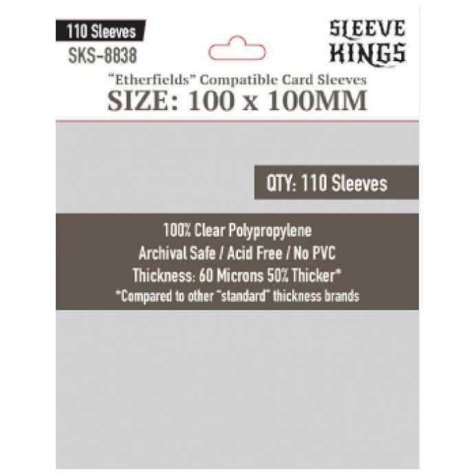 Fundas Sleeve Kings Etherfields Compatible Sleeves 100 X 100mm (110 uds) TABLERUM