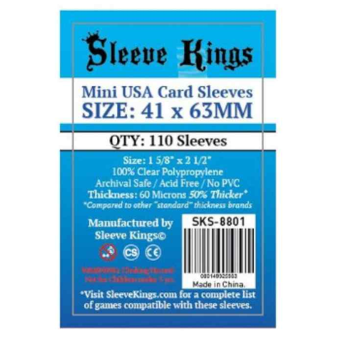 Fundas Sleeve Kings Mini USA Card Sleeves 41x63 (110 uds) TABLERUM