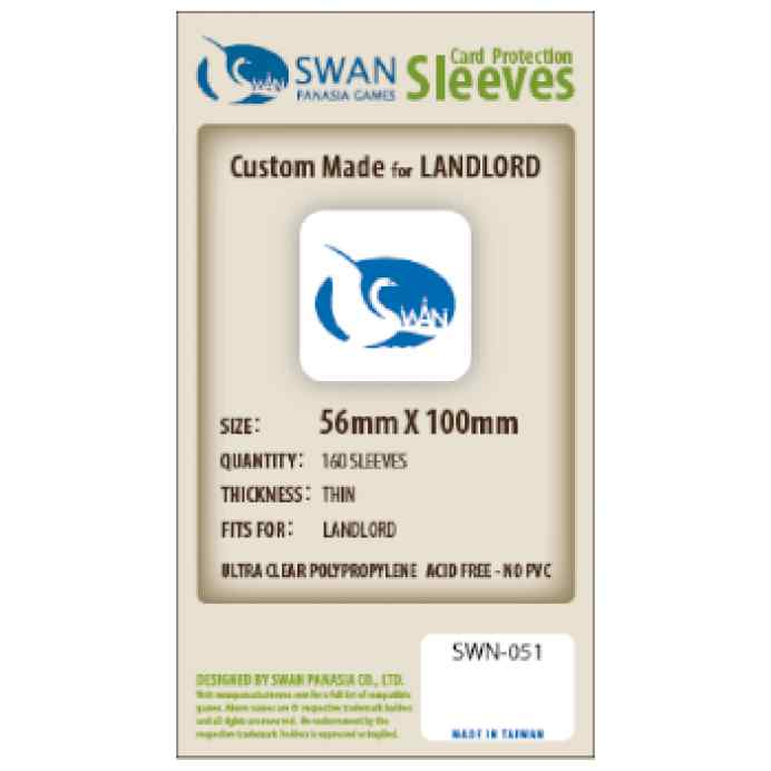 Fundas Swan Panasia 56 x 100 Estándar (160 uds) TABLERUM