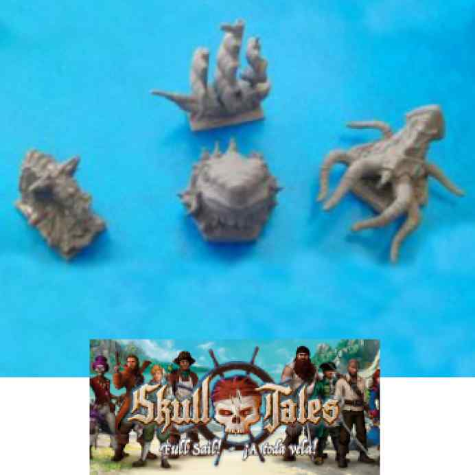 Skull Tales: 4 Minis de Mar TABLERUM