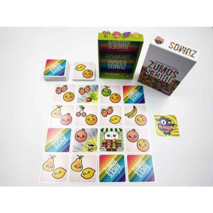 juego de cartas zumos abierto