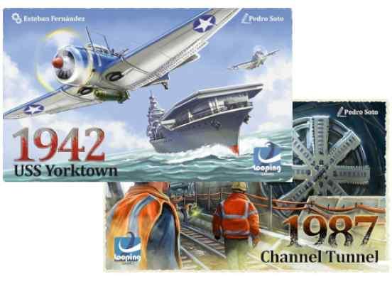 1942 USS Yorktown + 1987 Channel Tunnel TABLERUM