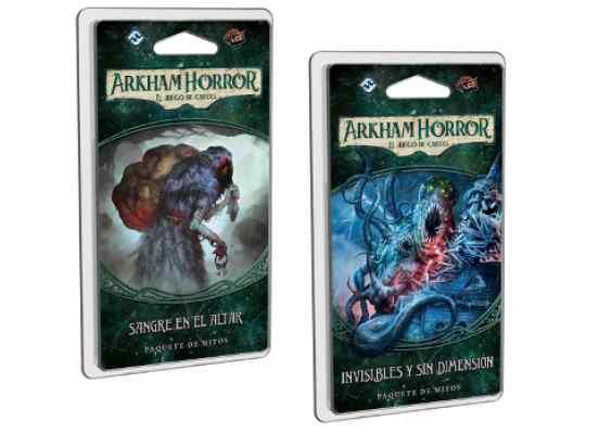Arkham Horror (LCG): Sangre en el Altar + Invisibles y Sin Dimensión