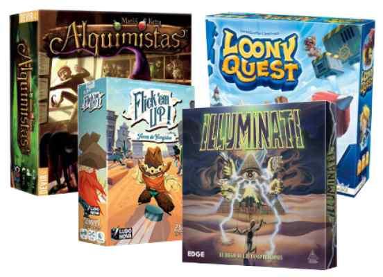 juegos Alquimistas + Illuminati + Flick'emUp + LoonyQuest