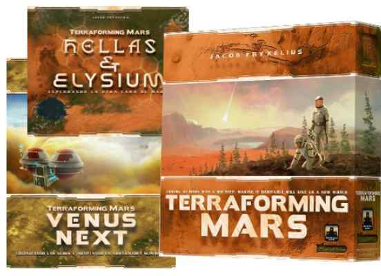 Terraforming Mars: Core + Hellas & Helysium + Venus TABLERUM