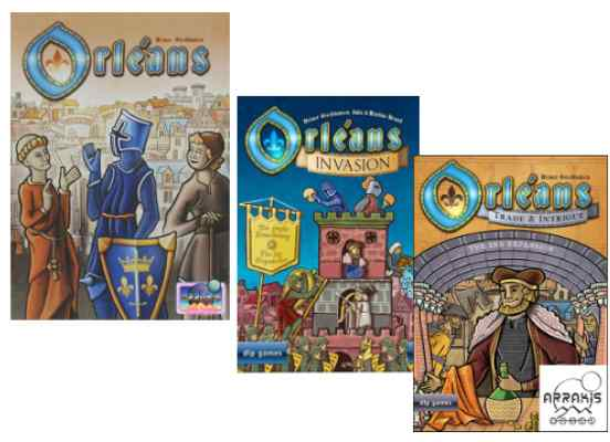 Orléans (Ed. 5 Jug) + Orléans Invasión + Orléans Comercio e Intriga TABLERUM