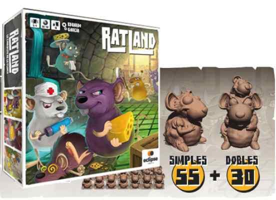 Ratland (Ed. Kikstarter) + 85 pequeñas Minis de Ratas