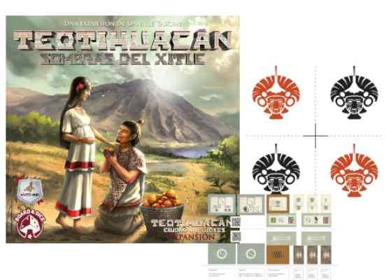 Teotihuacán: Sombras del Xitle + Pack de Promos TABLERUM
