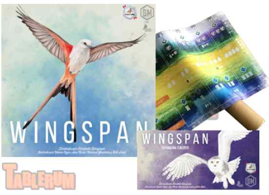 Wingspan + Expansión Europea + 5 Tapetes Wingspan TABLERUM
