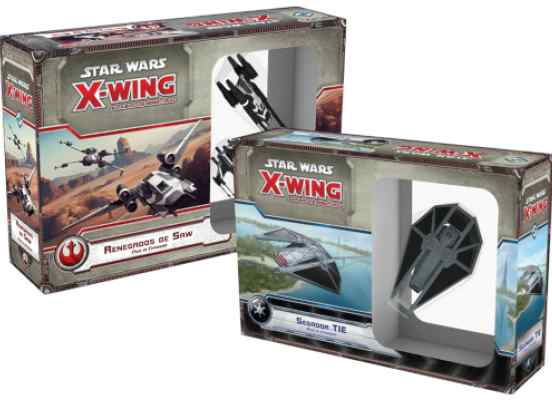 X Wing: Renegados de Saw + Segador TIE PACK TABLERUM