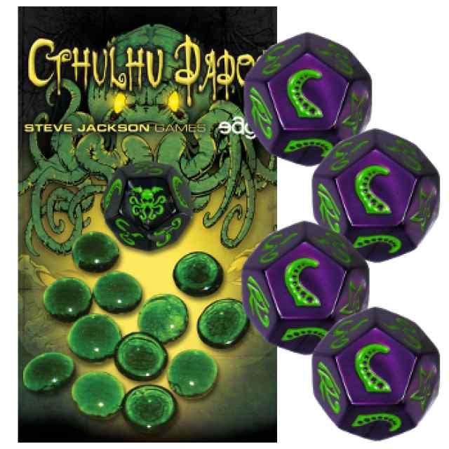 Cthulhu Dados: Morado-Verde