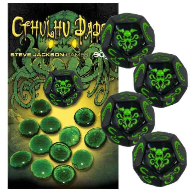 Cthulhu Dados: Negro-Verde