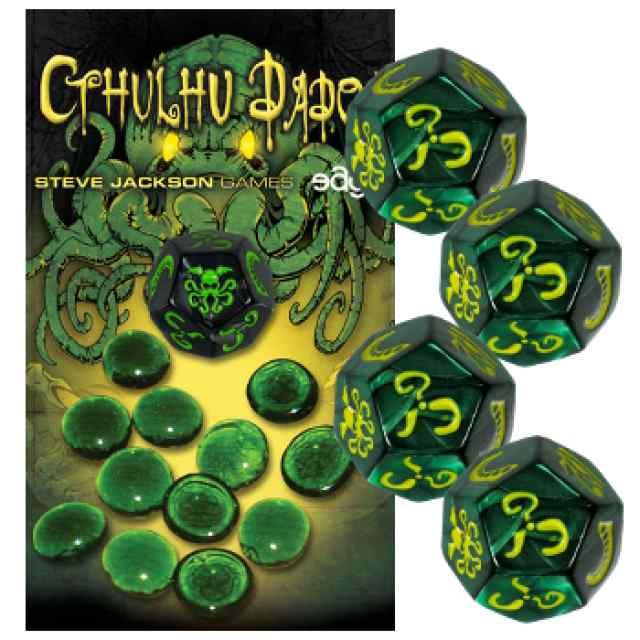 Cthulhu Dados: Verde-Amarillo