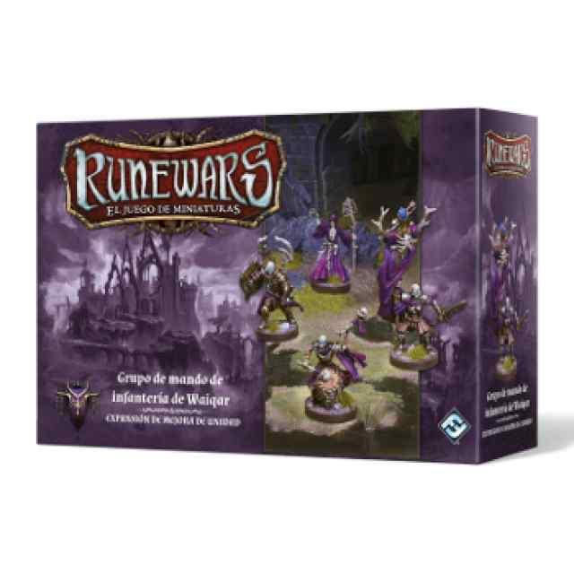 Runewars: El juego de miniaturas Waiqar el Inmortal:Grupo de mando de infantería de Waiqar