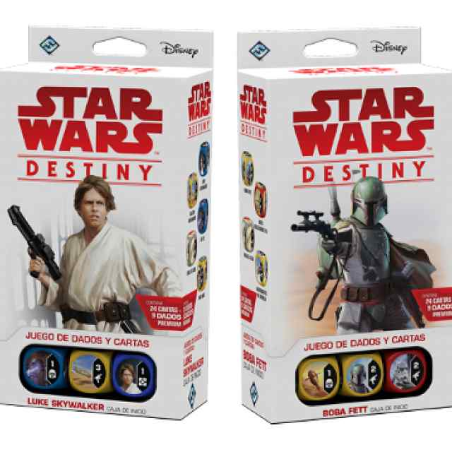 Star Wars Destiny: Pack de inicio Luke Skaywalker + Boba Fett TABLERUM