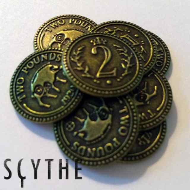 Scythe: monedas metálicas $2 (x15) TABLERUM