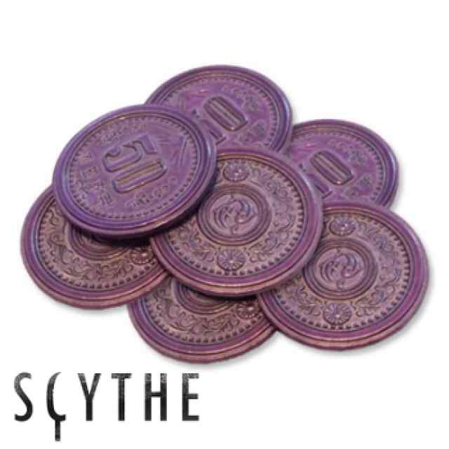 Scythe: monedas metálicas $50 (x7) TABLERUM