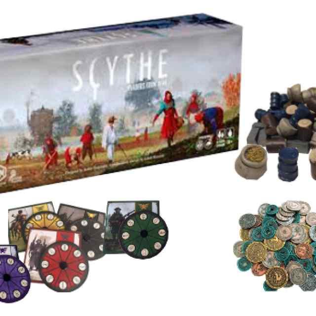 Scythe Invasores de Tierras Lejanas + Diales Scythe + Monedas + Recursos de Luxe