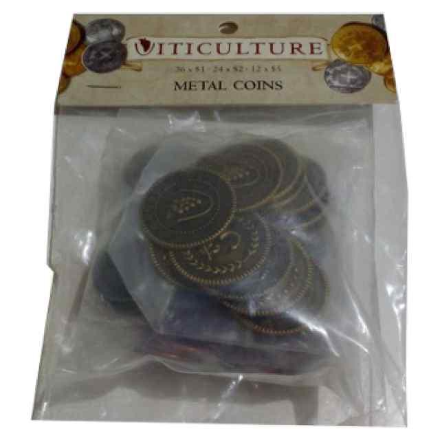 Viticulture: Monedas Metálicas para juegos de mesa