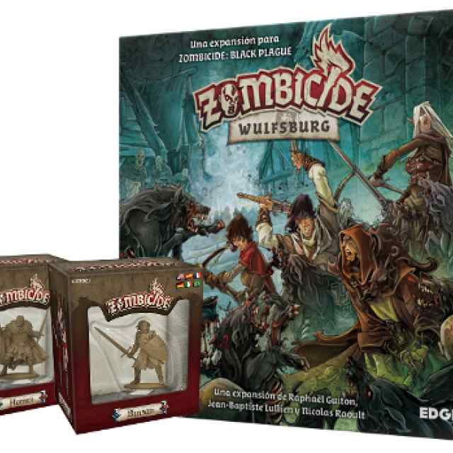 Zombicide Black Plague Wulfsburg + Homer + Benson Expansiones