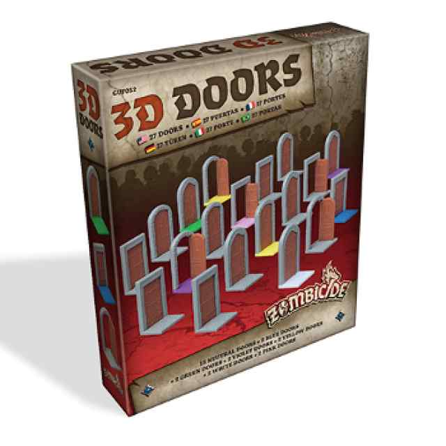 juego Zombicide Black Plague: 3D Doors Pack