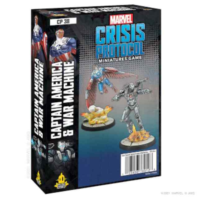 Marvel Crisis Protocol Captain America & War Machine EN TABLERUM