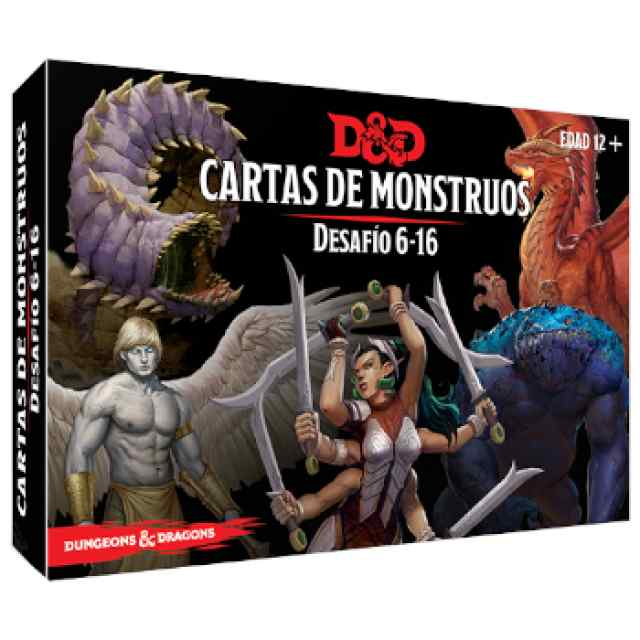 Dungeons & Dragons: Accesorios:Cartas de monstruos. Desafío 6-16 TABLERUM