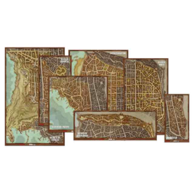 Dungeons & Dragons: Set de mapas de los distritos de Waterdeep TABLERUM
