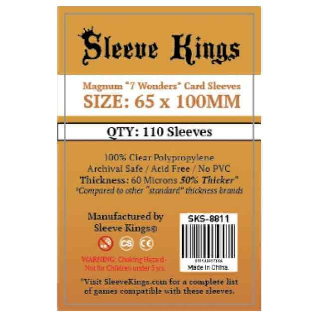 Fundas Sleeve Kings Magnum 7 Wonders 65x100 (110 uds) TABLERUM