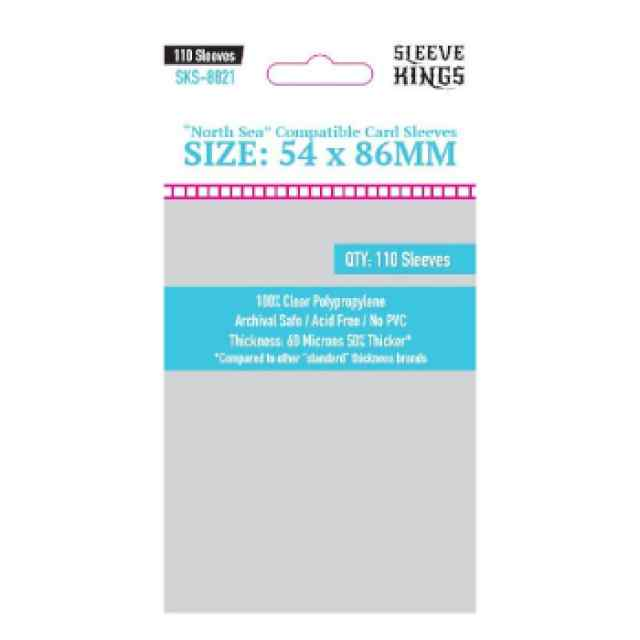 Fundas Sleeve Kings North Sea Compatible Sleeves 54 x 86mm (110 uds) TABLERUM