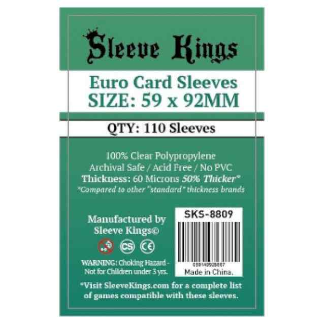 Fundas Sleeve Kings Euro Card 59x92 (110 uds) TABLERUM