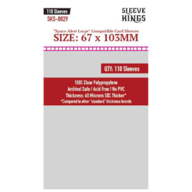 Fundas Sleeve Kings Space Alert Large Compatible Sleeves 67x103mm (110 uds) TABLERUM