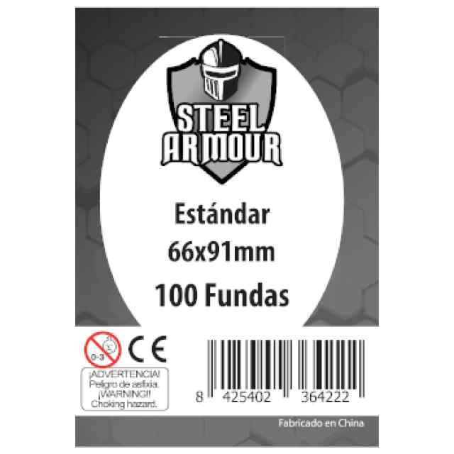 Fundas Steel Armour Standard 66x91 (100 uds) TABLERUM